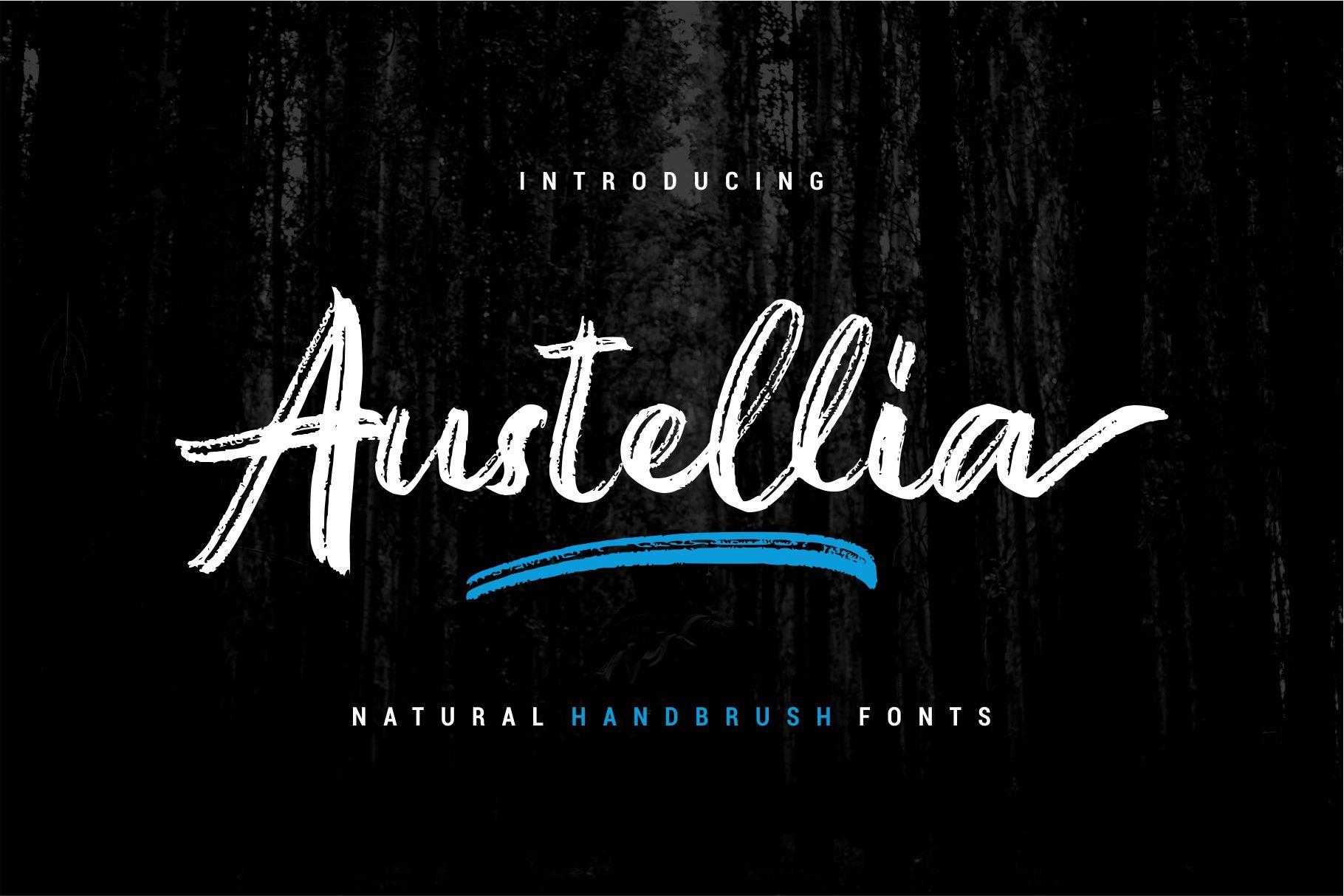 Austellia Script Header 1