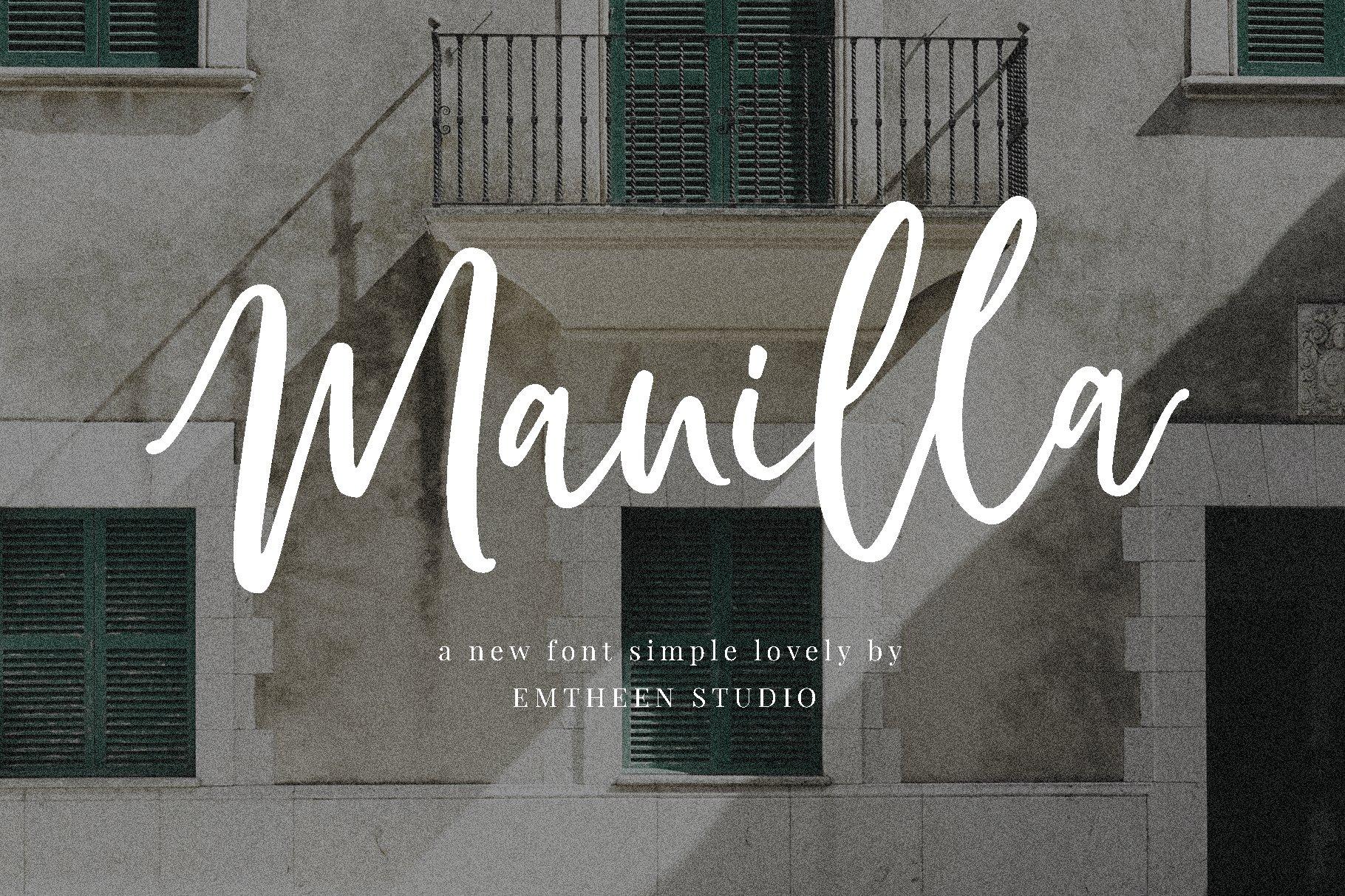 Free Manilla Script Header