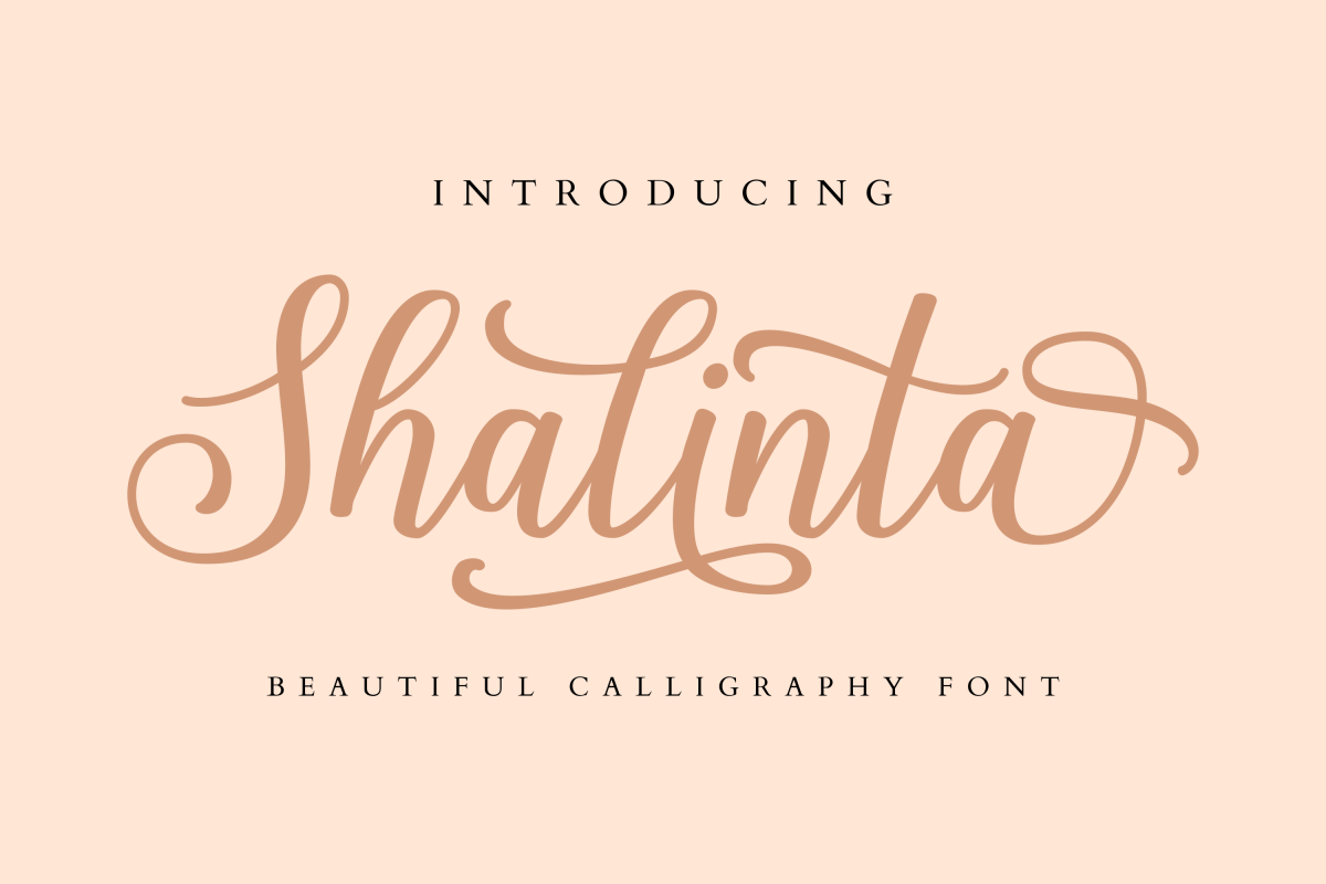 Free Shalinta Script Font Header