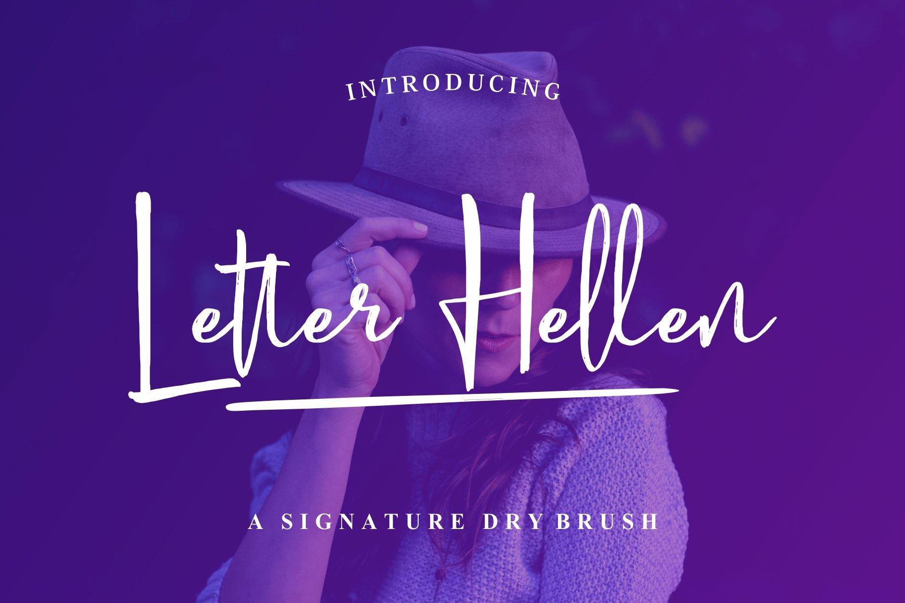 Letter Hellen Font Image 1