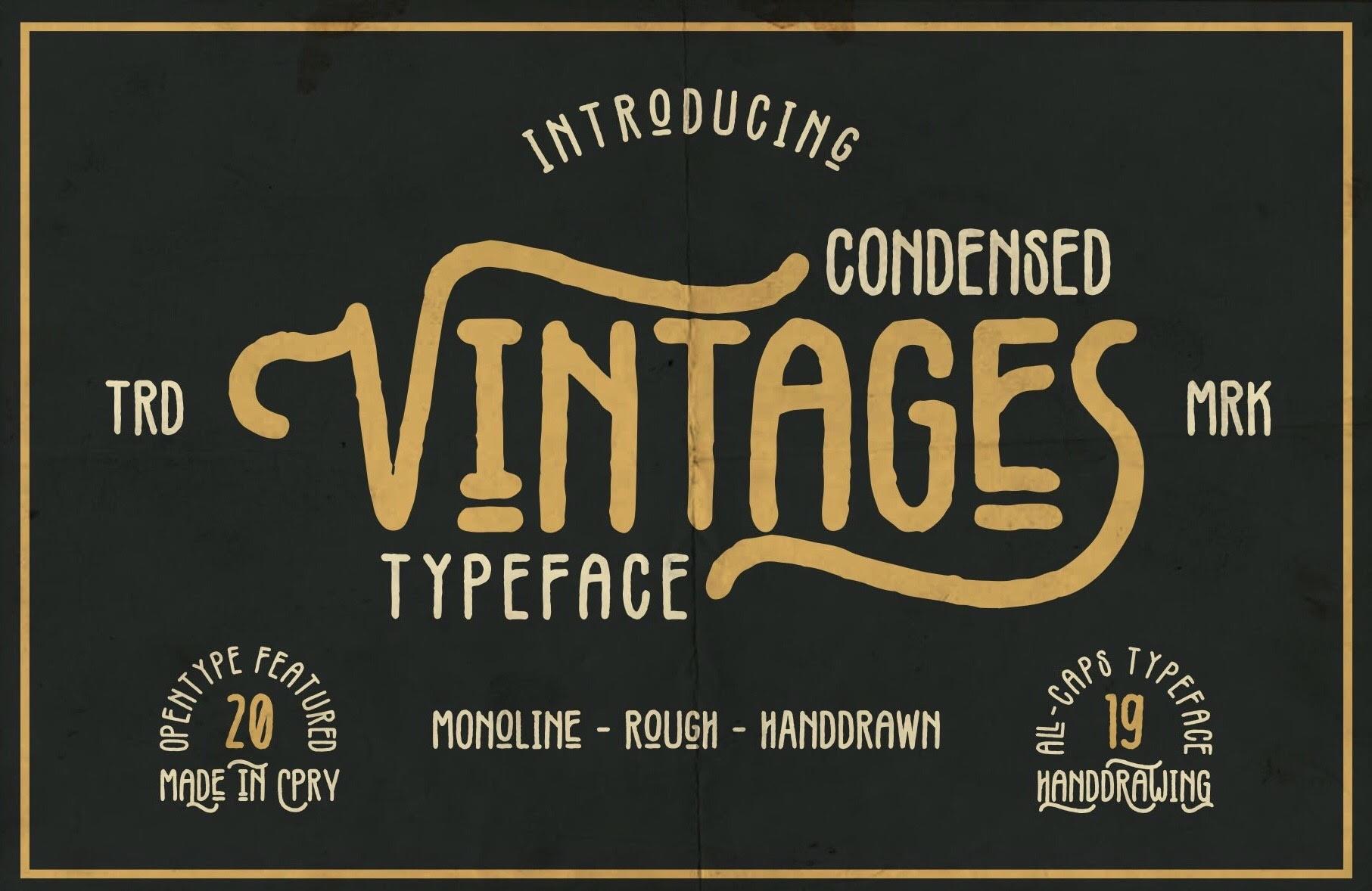 Vintages Typeface Header 1