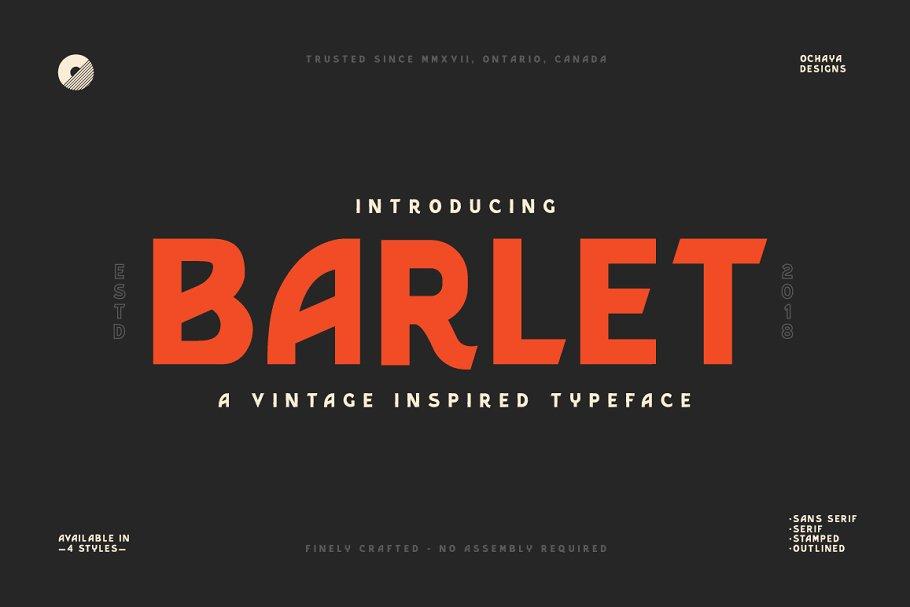 Free Barlet Font Family Header Image